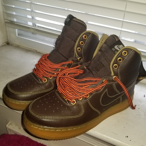 Chocolate brown airforce one high tops